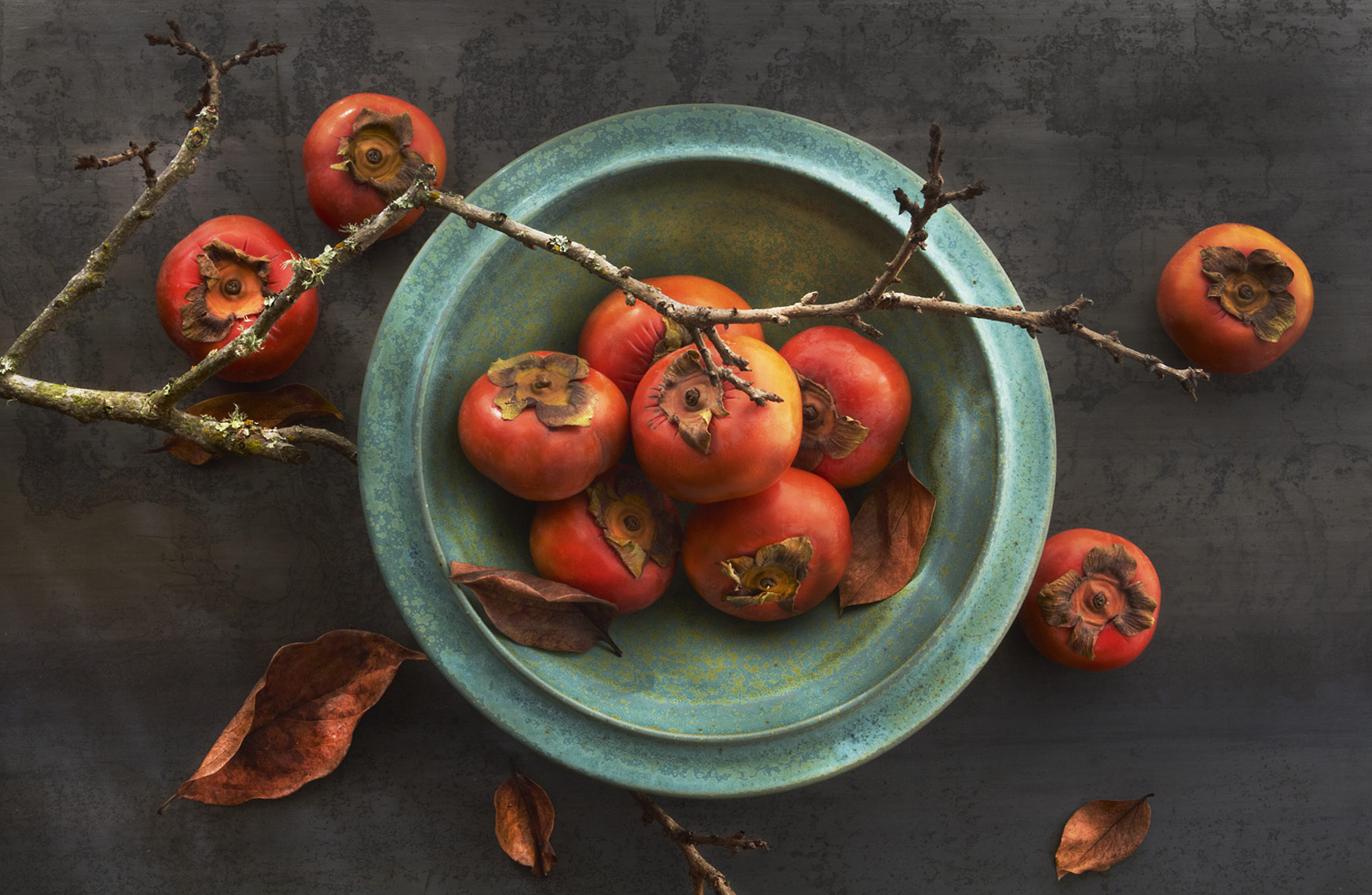 persimmons, Rose Hodges Food Photography San Francisco