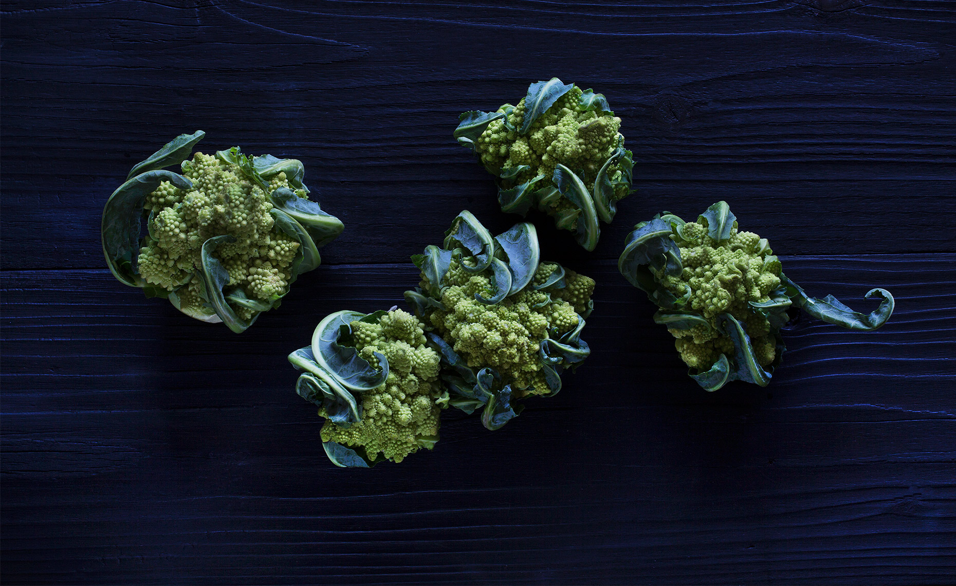 Green Cauliflower, Garden Fresh, Rose Hodges Food Photography