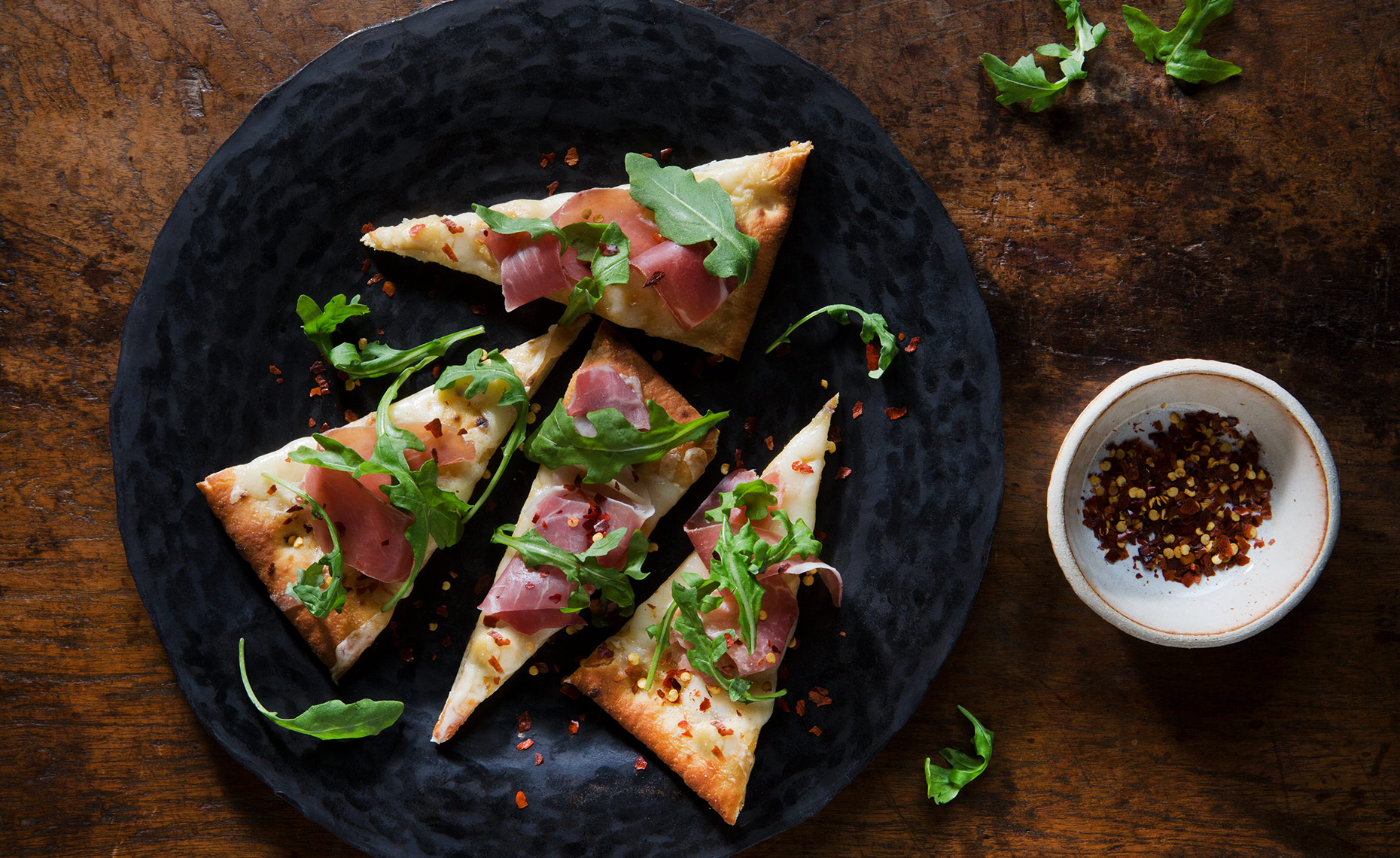 Pizza Slices, Prosciutto Pizza, Rose Hodges Food Photography, San Francisco