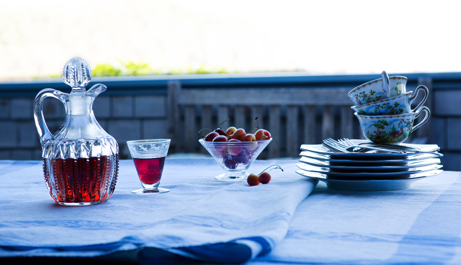 Sherry and Cherries, Natural Light, Lifestyle food, Rose Hodges Food Photography