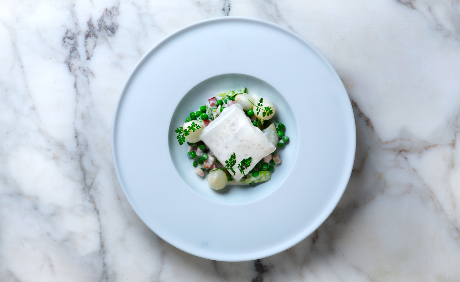 Halibut and Peas, Thomas Keller, Rose Hodges Food Photography