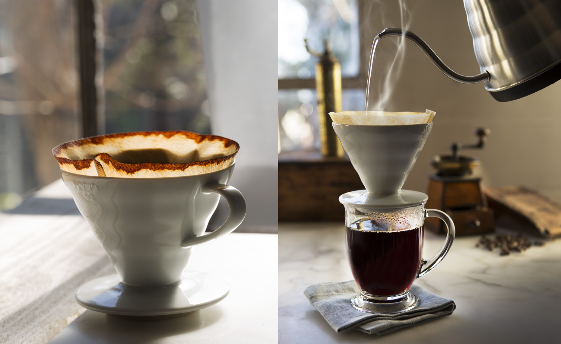 san francisco food photographer, coffee pour