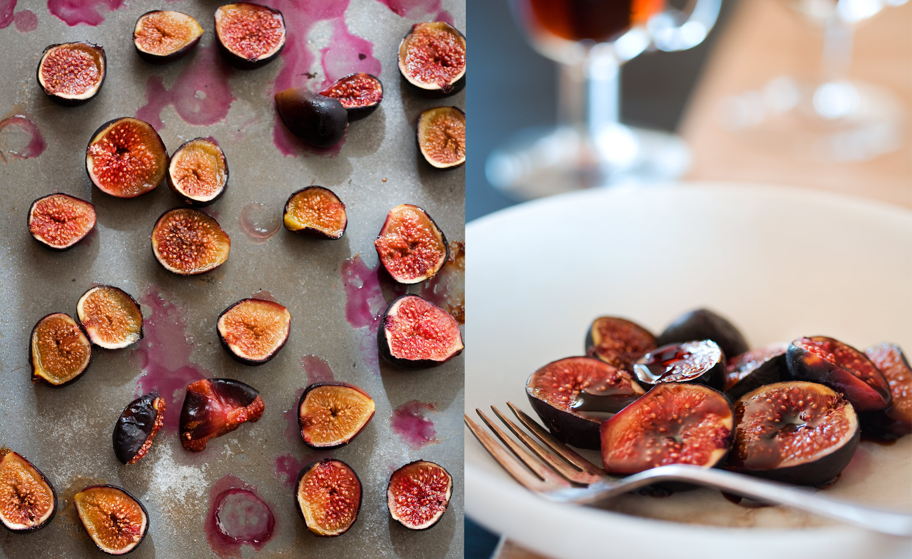food lifestyle photographer san francisco , baked figs