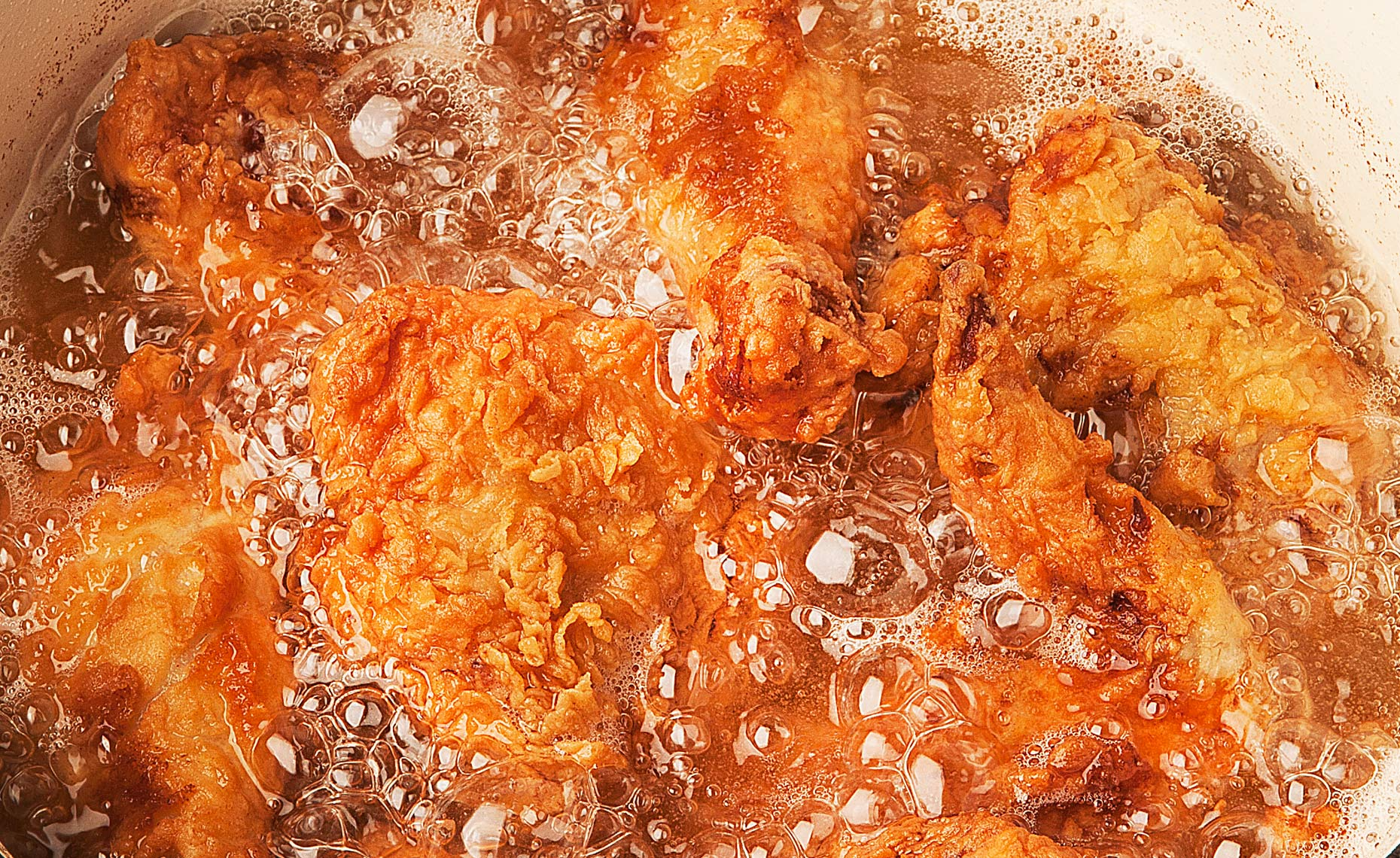 Fried Chicken Frying, Rose Hodges Food Photography