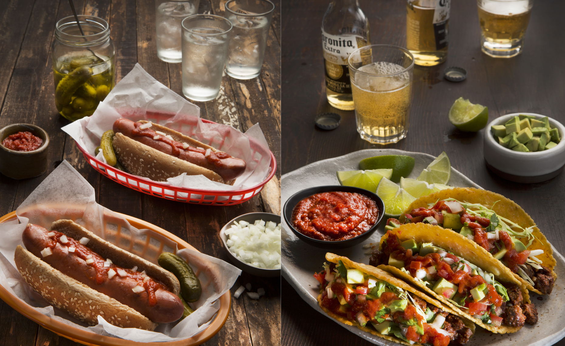 san francisco food  photographer, New York, Hot Dogs & Beef Tacos