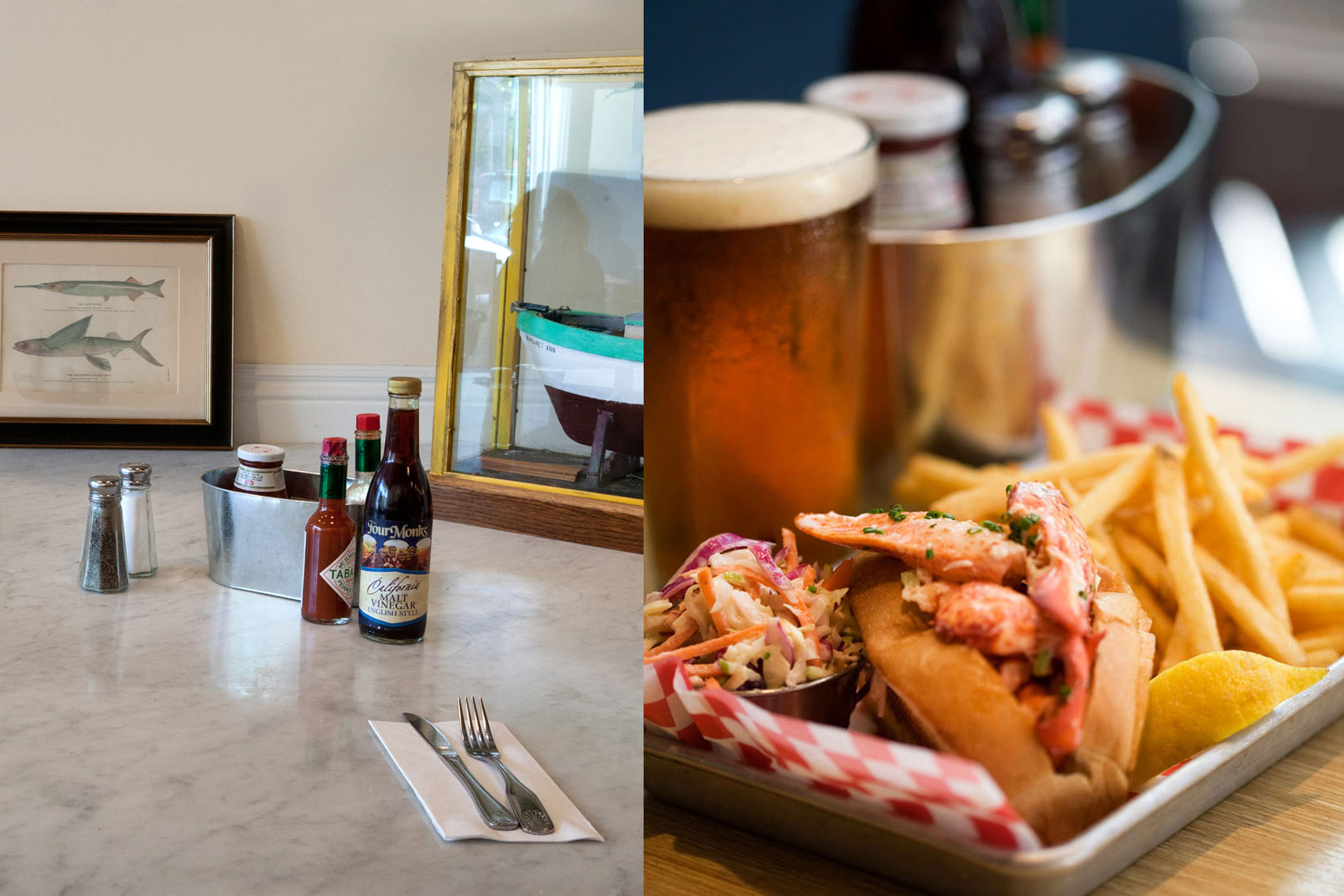lobster sandwich, beer,Rose Hodges Food Photography, San Francisco