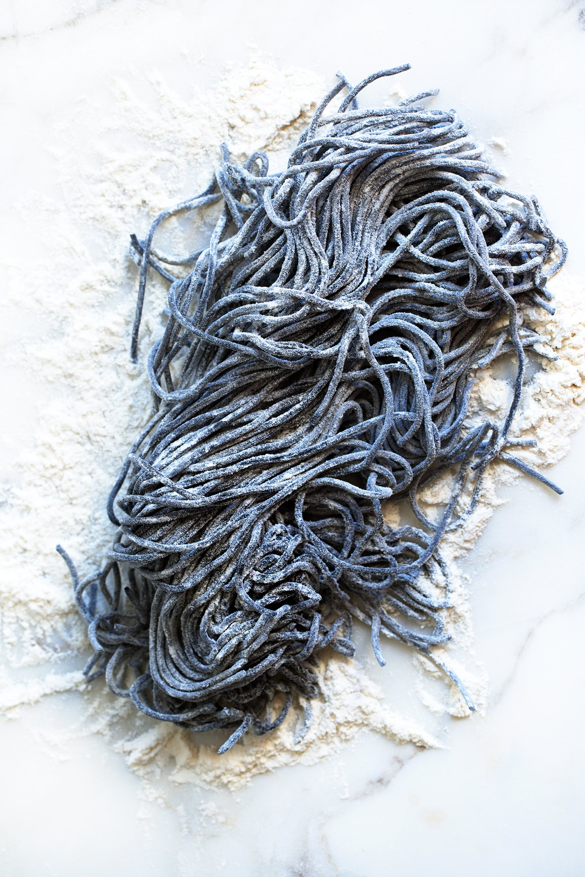 black ink fresh homemade pasta, Rose Hodges Food Photography