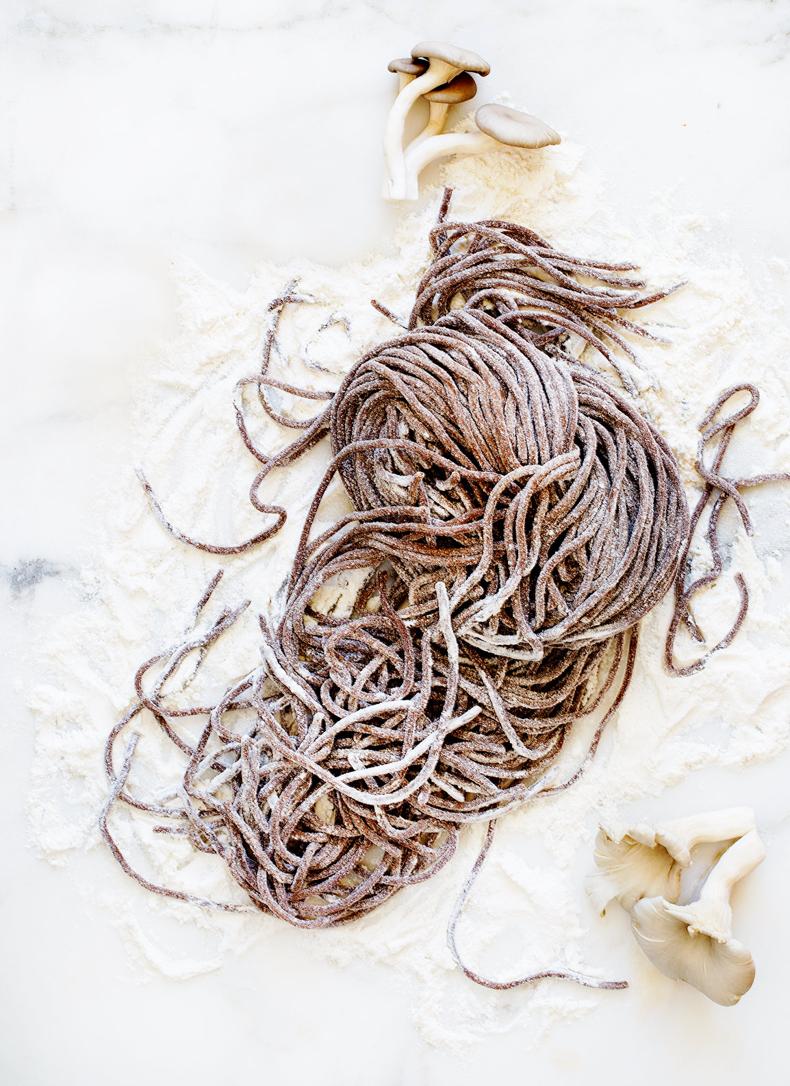 Mushroom Pasta, Rose Hodges Food Photography