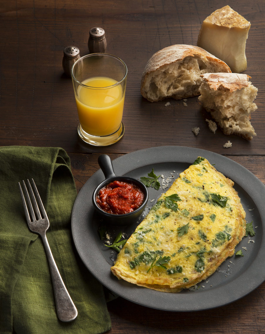food  photographer san francisco , spinach omelet